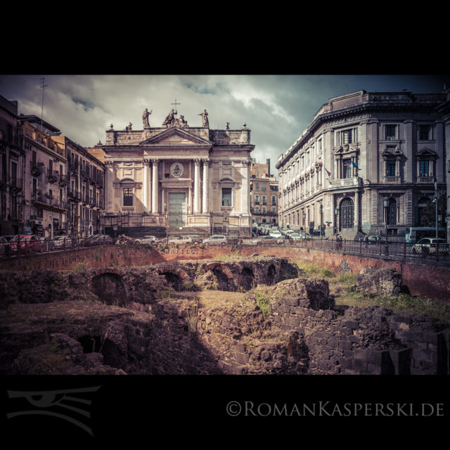 Sizilien Stadt Ausgrabung