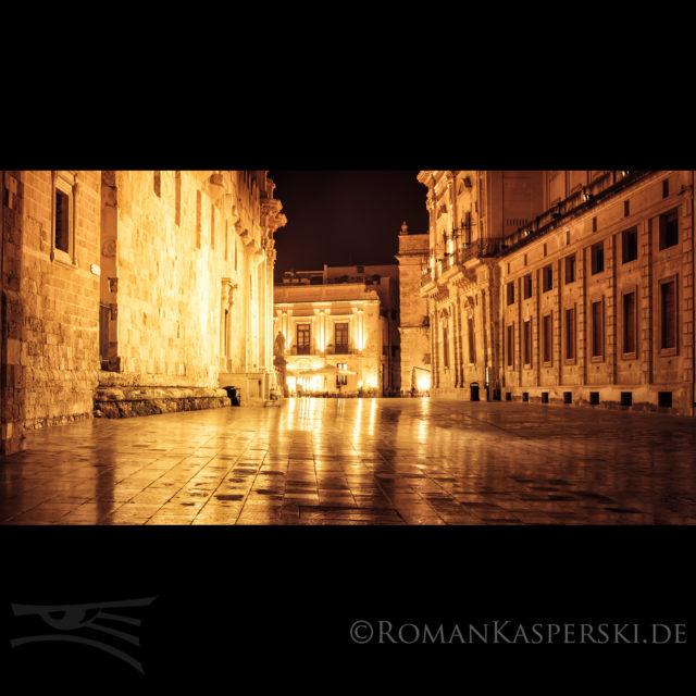 Syrakus Sizilien Regen Kirche