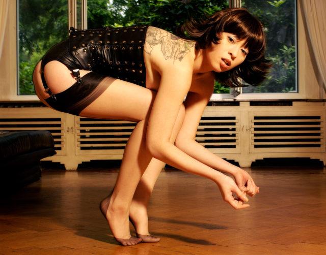 Asian, Girl, Woman, Korsett, Lingerie, Wig, Balance