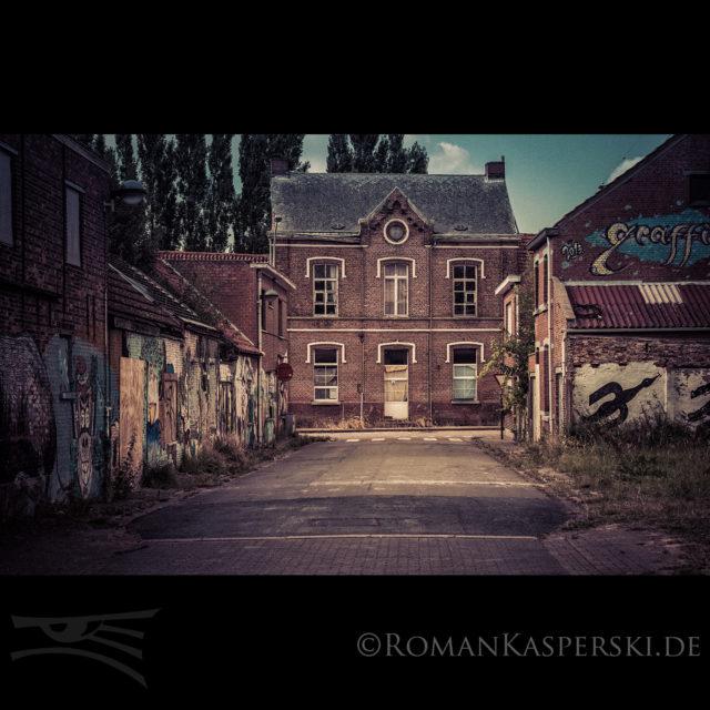 Belgien leere Gebäude